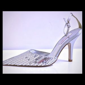 Imported Silver Sequins Vintage Shoes